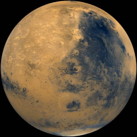 Mars, the fourth planet from the sun.